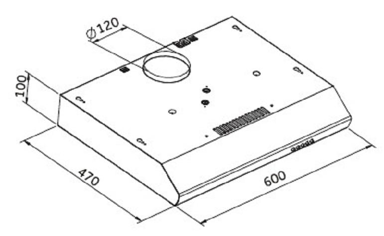 unterbau dunstabzugshaube pkm ubh 5000x silber 60cm. Black Bedroom Furniture Sets. Home Design Ideas