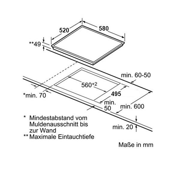 Kolbe Kf 592 Rl 144 Autarkes Glaskeramik Kochfeld Rahmenlos