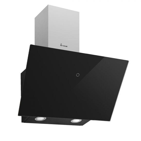 kkt kolbe trio 6014 s 144 dunstabzugshaube wandhaube kopffrei schr g design schwarz neusstec. Black Bedroom Furniture Sets. Home Design Ideas