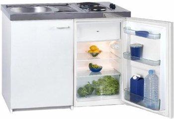 Exquisit Miniküche Pantryküche KK 1000 ZA+, 4* Kühlschrank